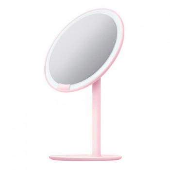 Зеркало косметическое настольное Xiaomi Amiro Lux High Color (AML004) с подсветкой (Розовый)