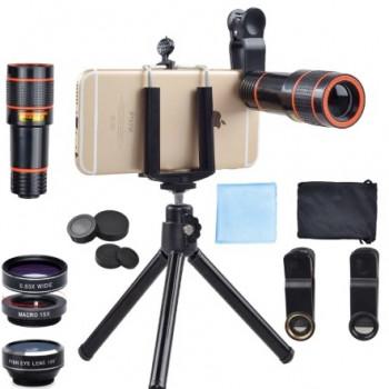 Apexel APL- HS12XDG3ZJ 0.63x wide+15x macro 198° fisheye lens+12x zoom lens