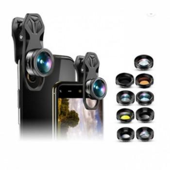 Объектив Apexel APL-DG11 lenses Clip 205 Fisheye + 140 Wide + 25x Macro + ND+ Kaleidoscope Lens для Apple iPhone 6/7/8/11 Plus X смартфонов