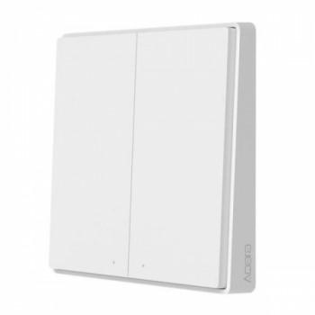 Умный выключатель Xiaomi Aqara Wall Switch Double Key D1 (двойной, встраиваемый, без нулевой линии, белый) QBKG22LM