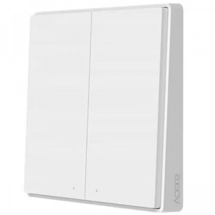 Умный выключатель Xiaomi Aqara Wall Wireless Switch Double Key D1 (двойной, не встраиваемый, дублирующий, белый) WXKG07LM