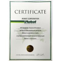 Сертификат дилера от iRobot