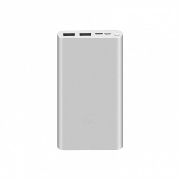 Внешний аккумулятор Xiaomi Mi Power Bank 3 10000 (PLM13ZM) серебристый