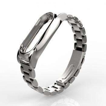 Mijobs Steel для Xiaomi Mi Band 2 silver