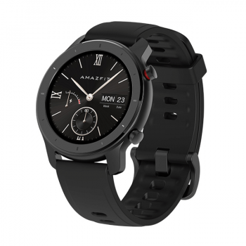 Часы Amazfit GTR 42mm aluminium case, silicone strap black