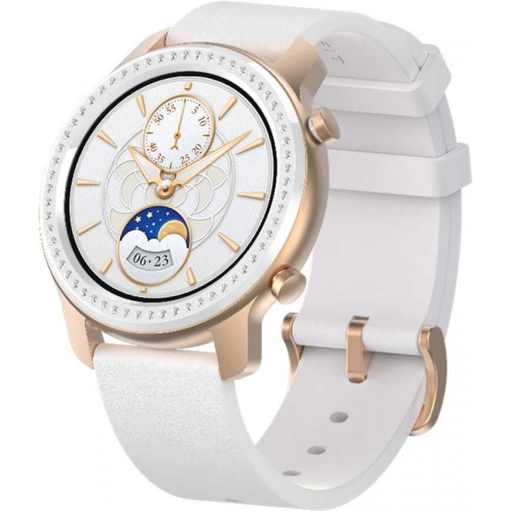 Часы Amazfit GTR 42mm aluminium case, silicone strap white-gold