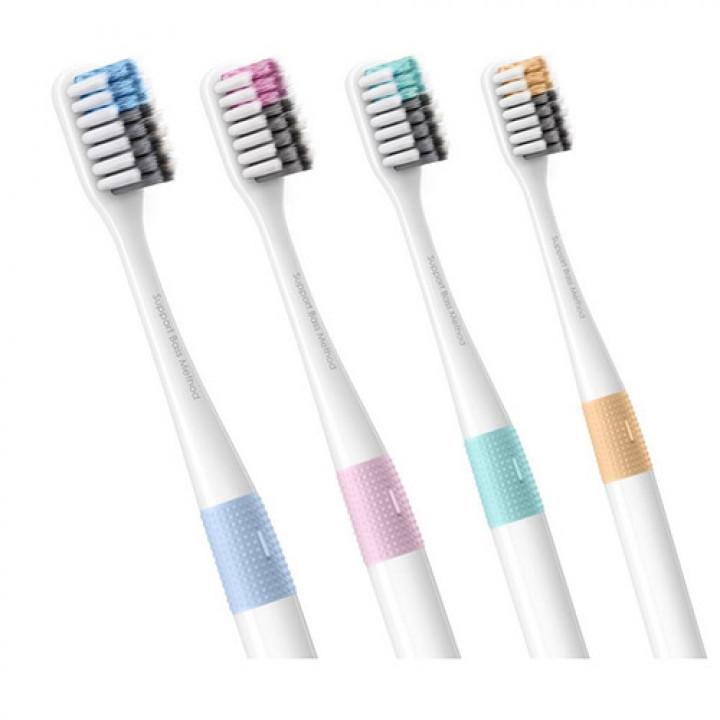 Комплект разноцветных щеток Xiaomi Pui doctor Bei toothbrush set 4 штуки