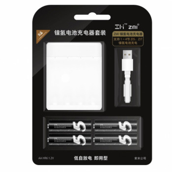 Комплект Xiaomi ZMI ZI5 AA 1800mAh 4шт + зарядное устройство