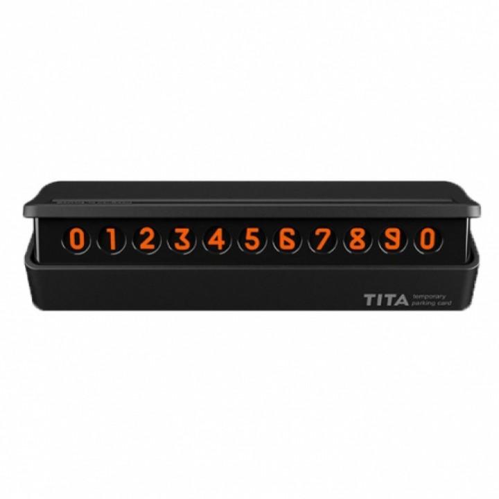 Автодержатель Xiaomi TITA temponary parking card / временная парковочная карта black