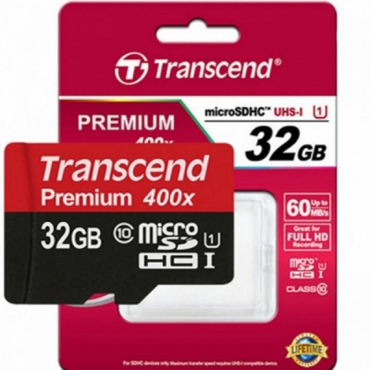 Карта памяти microSDHC Transcend Premium, 32 Гб, UHS-I Class 10 U1, чтение: до 90Мб/с