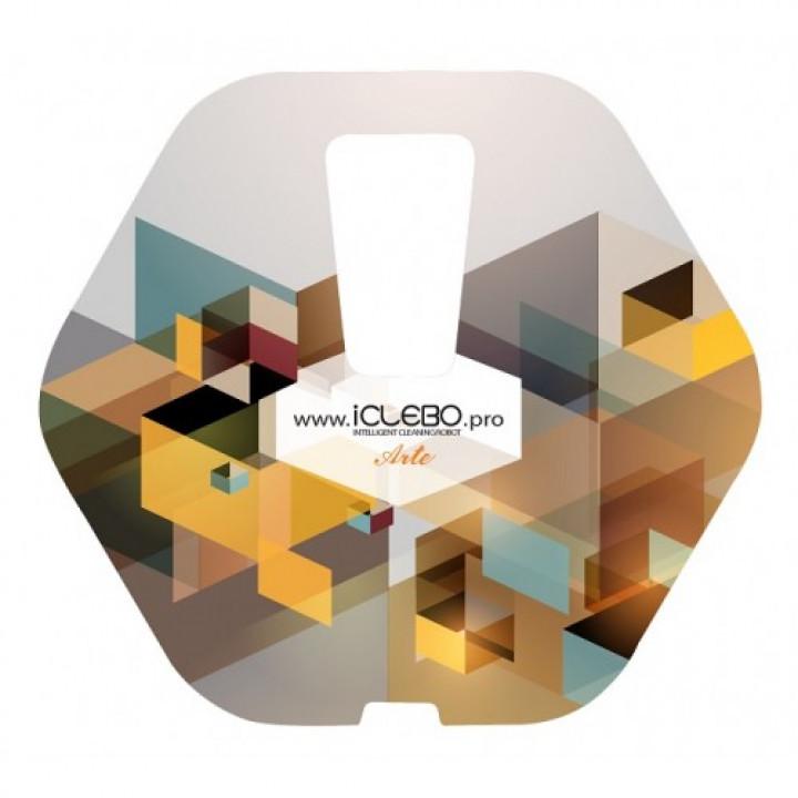 """Защитная виниловая наклейка с авторским дизайном """"Epic"""" для робота-пылесоса iClebo Arte"""