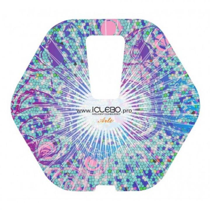"""Защитная виниловая наклейка с авторским дизайном """"Euphoria"""" для робота-пылесоса iClebo Arte"""