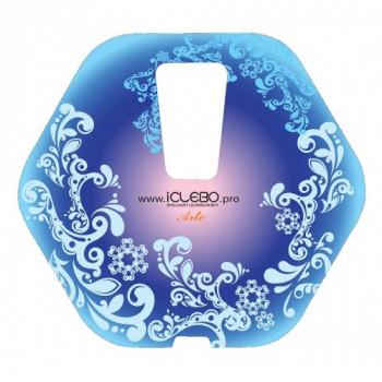 """Защитная виниловая наклейка с Авторским дизайном """"Frost"""" для пылесоса iClebo Arte от магазина iClebo.pro"""