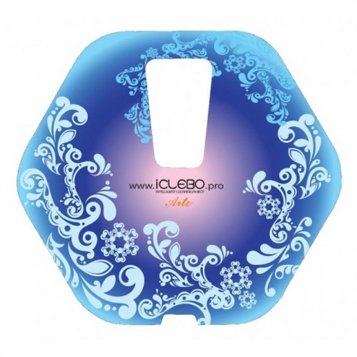 """Защитная виниловая наклейка с авторским дизайном """"Frost"""" для робота-пылесоса iClebo Arte"""