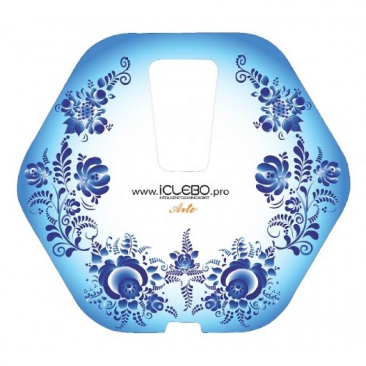 """Защитная виниловая наклейка с авторским дизайном """"Gjel"""" для робота-пылесоса iClebo Arte"""