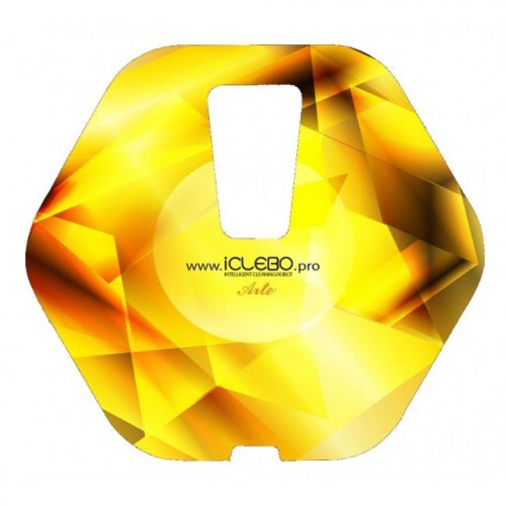 """Защитная виниловая наклейка с авторским дизайном """"Gold"""" для робота-пылесоса iClebo Arte"""