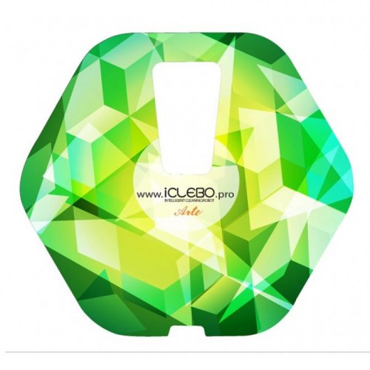 """Наклейка виниловая с Авторским дизайном """"Green day"""" для пылесоса iClebo Arte от магазина iClebo.pro"""