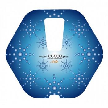 """Защитная виниловая наклейка с Авторским дизайном """"Snow"""" для пылесоса iClebo Arte от магазина iClebo.pro"""