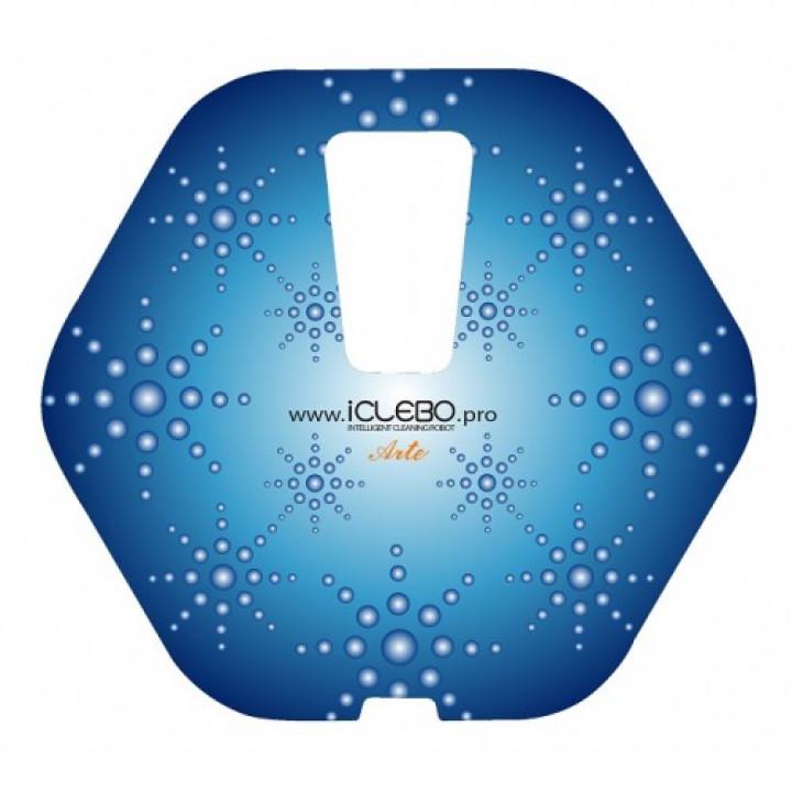 """Защитная виниловая наклейка с авторским дизайном """"Snow"""" для робота-пылесоса iClebo Arte"""