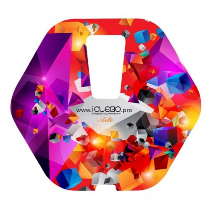 """Наклейка виниловая с Авторским дизайном """"Zero gravity"""" для пылесоса iClebo Arte от магазина iClebo.pro"""