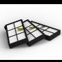 Комплект фильтров для роботов пылесосов iRobot Roomba 800, 900 серии (3шт)