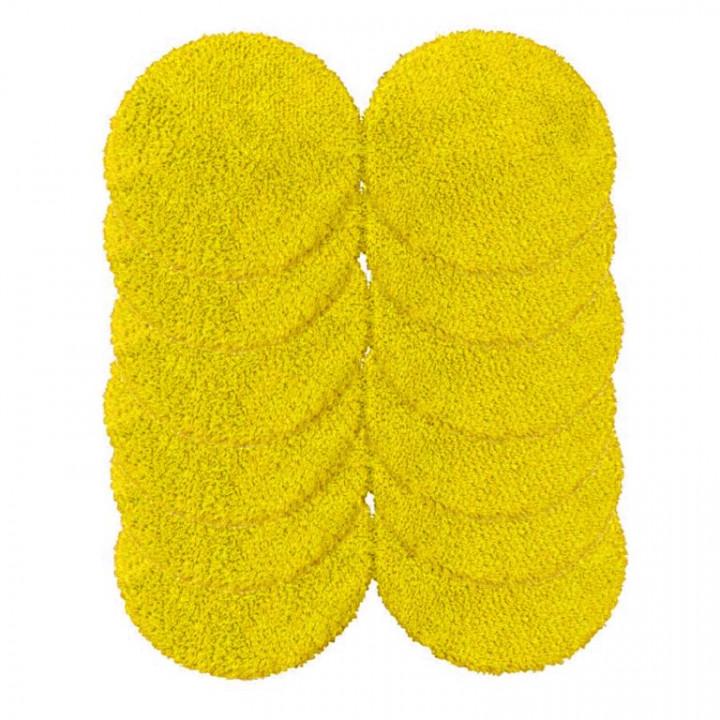 Комплект салфеток для влажной и сухой уборки для Hobot 188, Hobot 168, Hobot 198 желтые (12 штук)
