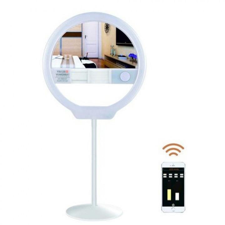 YongNuo YN128 II портативная светодиодная кольцевая лампа для смартфона белая