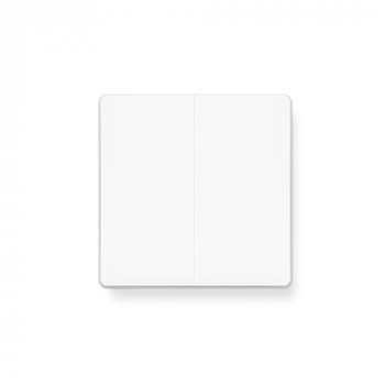 Aqara Выключатель настенный двухклавишный Wall Switch (No Neutral, Double Rocker), белый QBKG03LM