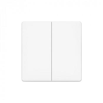 Электровыключатель Aqara Smart Light Control wireless 2-х кнопочный внешний дублирующий (WXKG02LM/AK012CNW01)