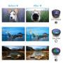 Объектив apexel APL-DG6 120° wide+15x macro+210° fisheye lens +2x zoom+CPL Lens+Star filter