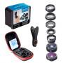 Объектив Apexel APL-DG7 7 lenses Clip 198 Fisheye + 0.63X Wide + Macro + Kaleidoscope Lens для Apple iPhone 6/7/8 Plus смартфонов