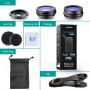 Объектив Apexel APL-SJ3 3 lenses fisheye 230 / macro 15x / wide 0.36x Lens для Apple iPhone 5/6/7/8, Plus моделей и других