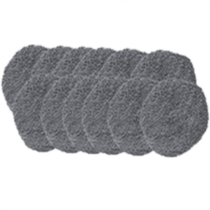 Комплект салфеток для влажной и сухой уборки для Hobot 188, Hobot 168, Hobot 198 серые (12 штук)