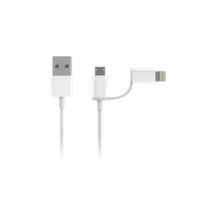 Кабель 2in1 USB Lighting/Micro Xiaomi ZMI MFi 100см (AL801)