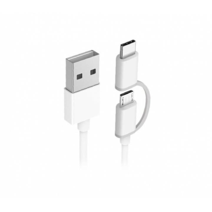 Кабель 2in1 USB Type-C/Micro Xiaomi ZMI 30см (AL511) белый
