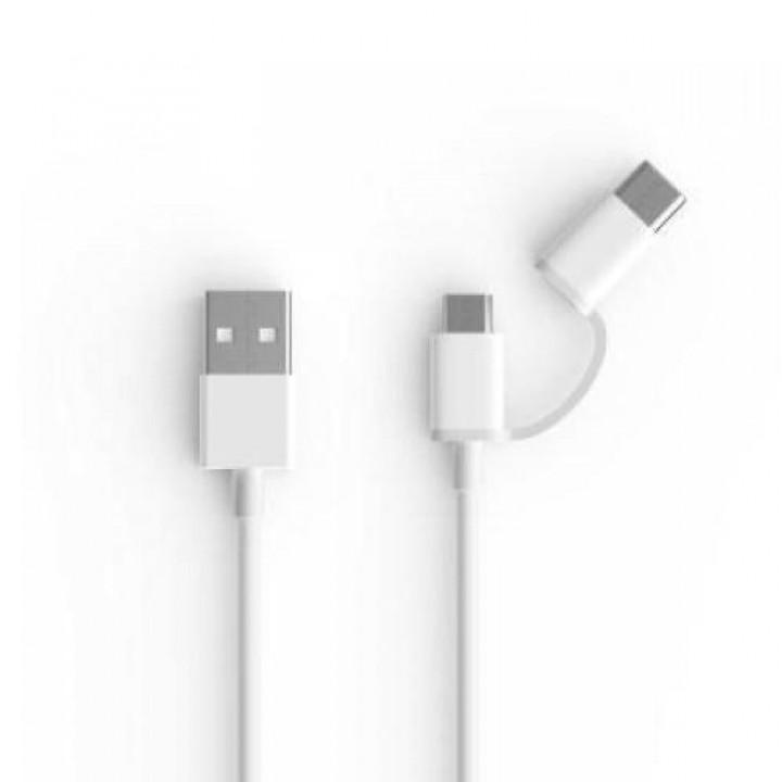Кабель 2in1 USB Type-C/Micro Xiaomi 100см (SJX02ZM) белый