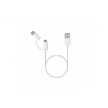 Кабель 2in1 USB Type-C/Micro Xiaomi 30см белый