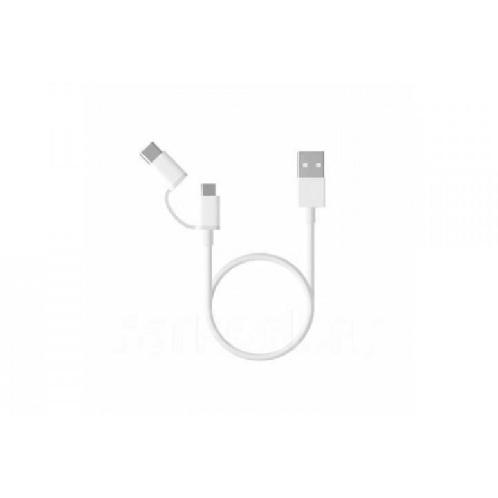 Кабель 2in1 USB Type-C/Micro Xiaomi 30см (SJX01ZM) белый