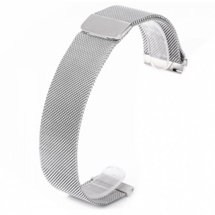 Ремешок стальной Milanese Stainless Steel для Amazfit Bip серебро