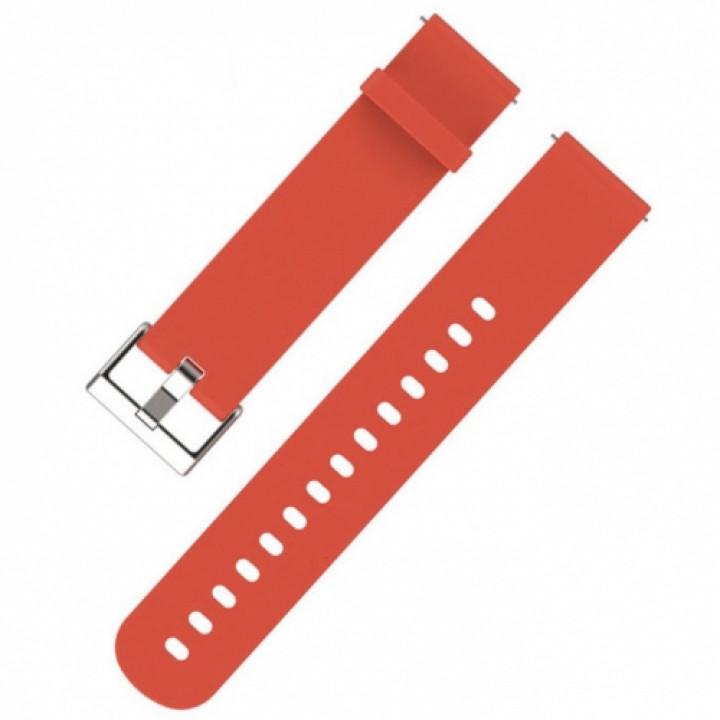 Ремешок силиконовый для Amazfit Bip красный