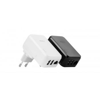 Сетевая зарядка Rock Wi-Fi роутер Tank Travel Charger 3,4A 2 USB/RJ45