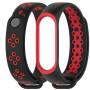 Браслет силиконовый Mijobs для Xiaomi Mi Band 3/4 holes black/red
