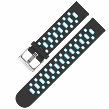 Браслет силиконовый sport strap holes для Amazfit Bip black/blue