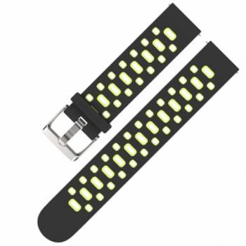 Браслет силиконовый sport strap holes для Amazfit Bip black/green
