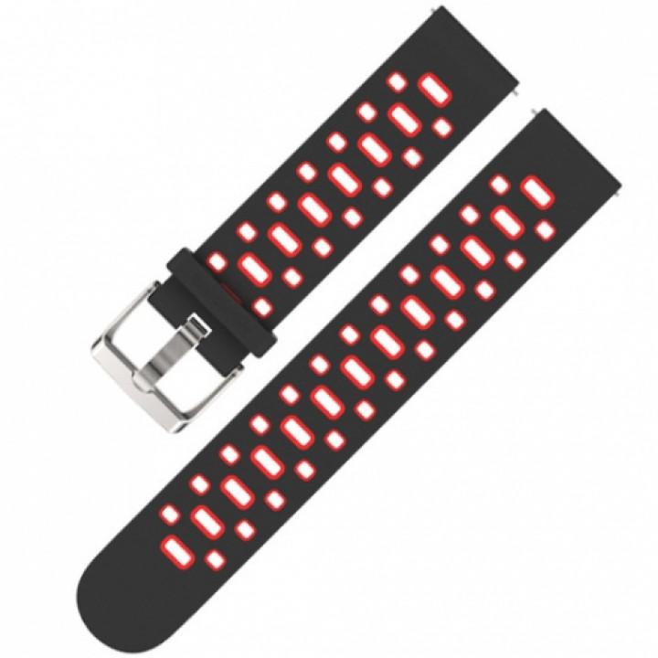 Браслет силиконовый Mijobs sport strap holes для Amazfit Bip black/red