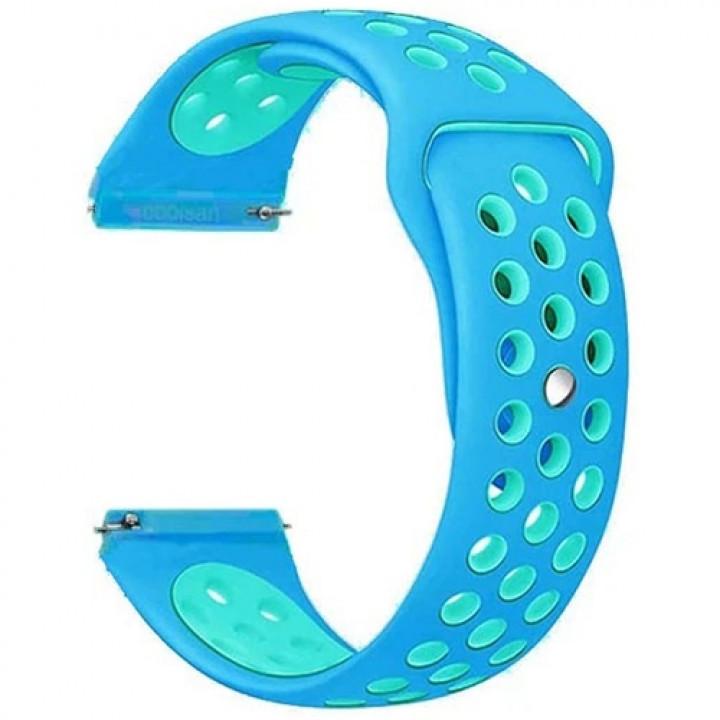 Браслет силиконовый Mijobs Strip для Amazfit Bip blue/light blue