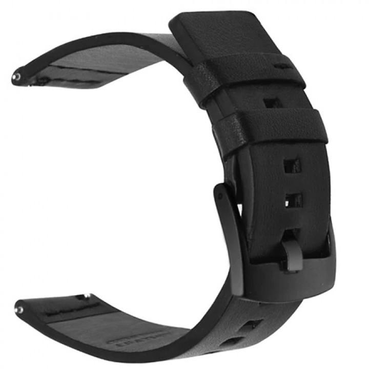 Кожаный браслет Mijobs для Amazfit Bip black