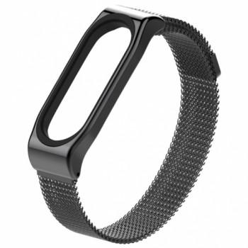 Milanese Stainless Steel для Xiaomi Mi Band 3/4 black