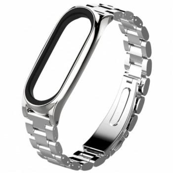 Steel classific Three beads для Xiaomi Mi Band 3/4 silver