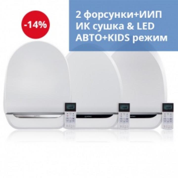 Электронная крышка биде SensPa JK-1000 RL/RS/RU (длинная/короткая/круглая)